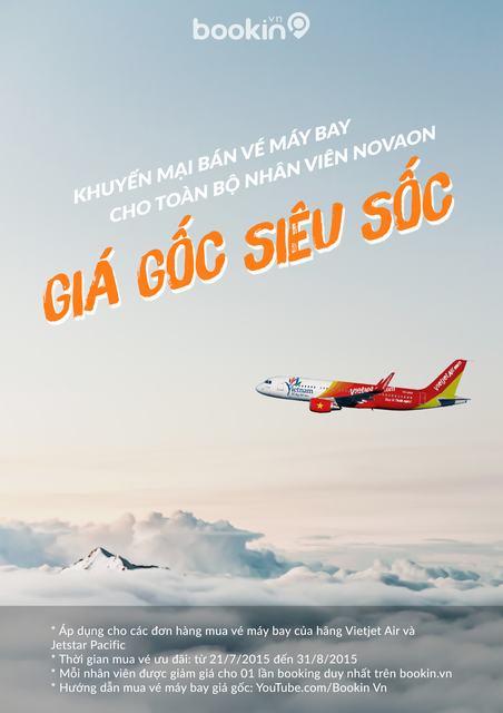 """Nhân viên NOVAON có cơ hội sở hữu vé máy bay giá rẻ trong chương trình """"Giá gốc siêu sốc"""" của Bookin.vn"""
